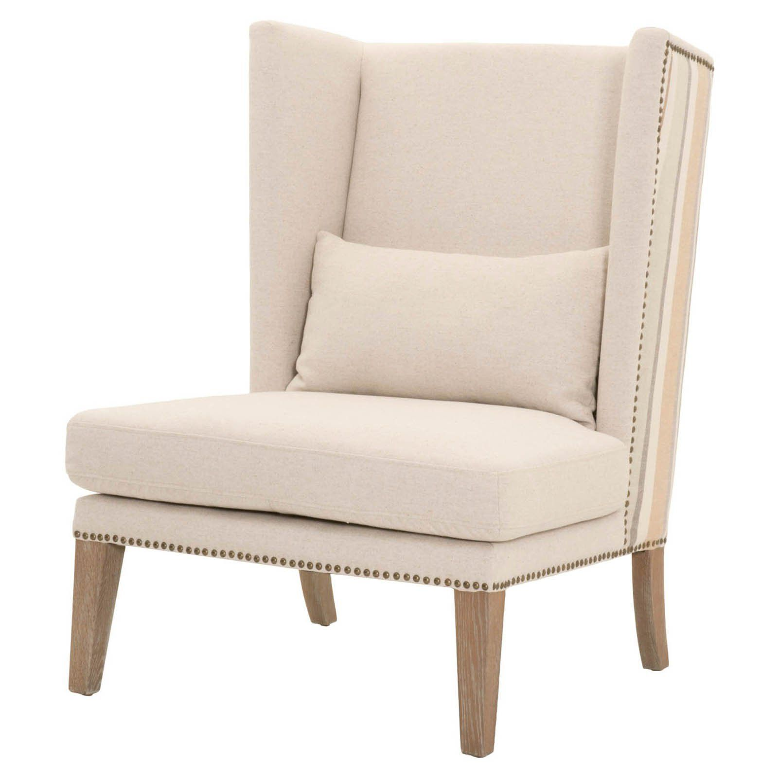 Orient Express Furniture Mercer Wingback Accent Chair Jute