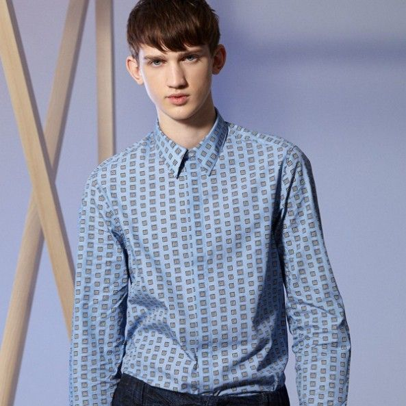 KENZO -DOGSTOOTH CUBES SHIRT -THE SHAPE OF THE SEASON