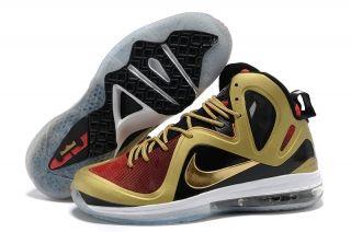 Nike Lebron James 9.5 White Black Gold Shoes