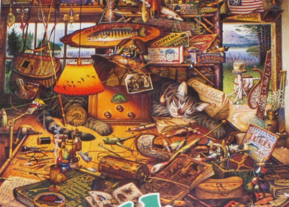 MAX IN THE ADIRONDACKS by Wysocki 750 Piece Jigsaw Puzzle