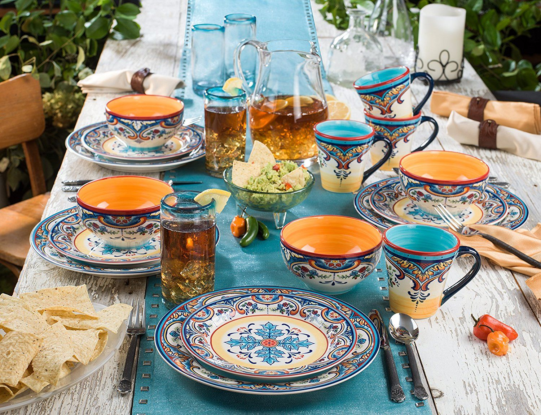 Spanish floral design dinnerware set & Spanish floral design dinnerware set | Table Settings \u0026 Wares ...