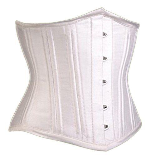 NaughtySmile Women's White Silk Dupion Waist Training Cor... https://www.amazon.com/dp/B00FM1EUSK/ref=cm_sw_r_pi_dp_D9zzxbZK83QDW