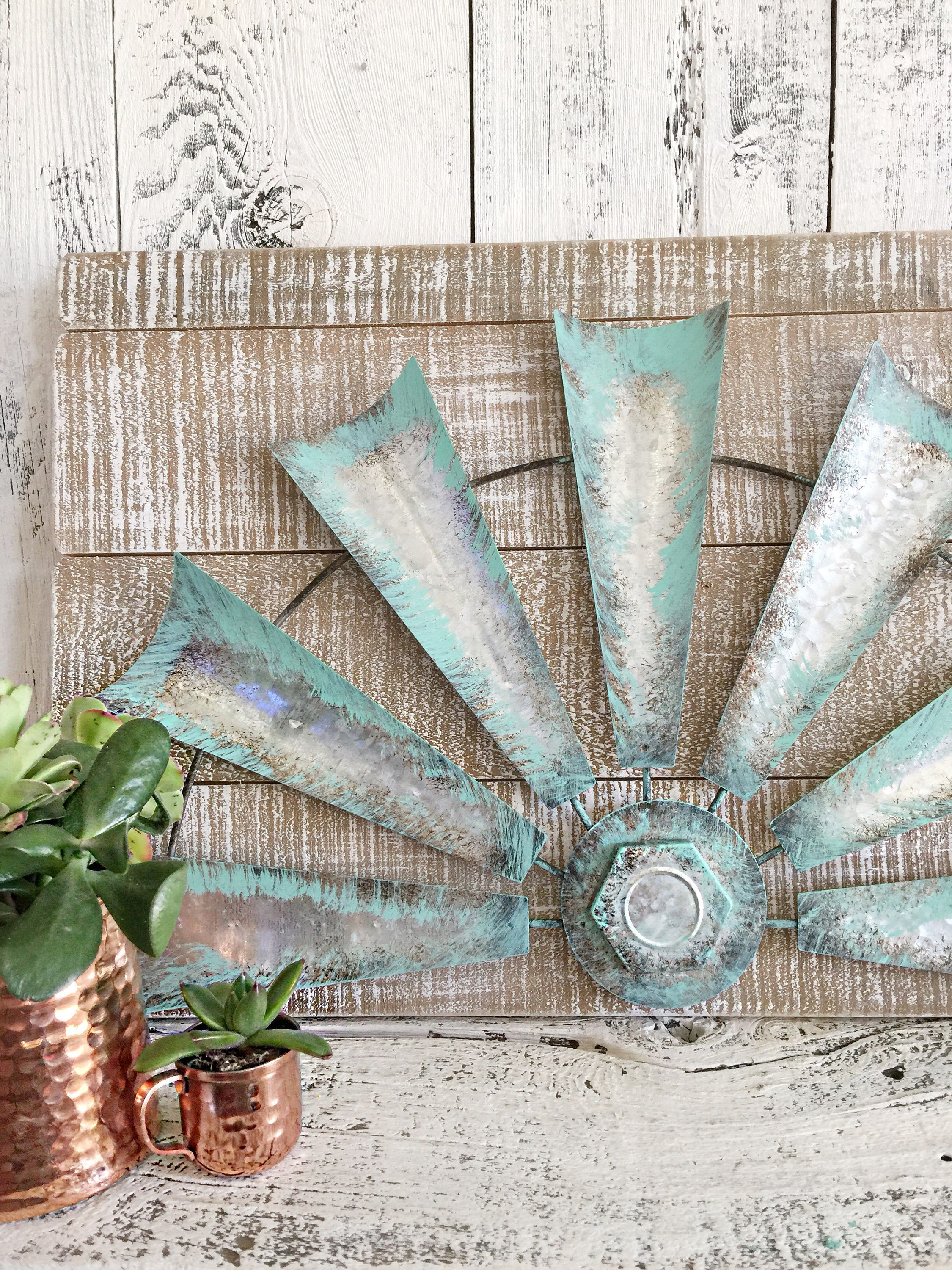 Half WIndmill Wall Decor Wood Back WIndmill Home Decor