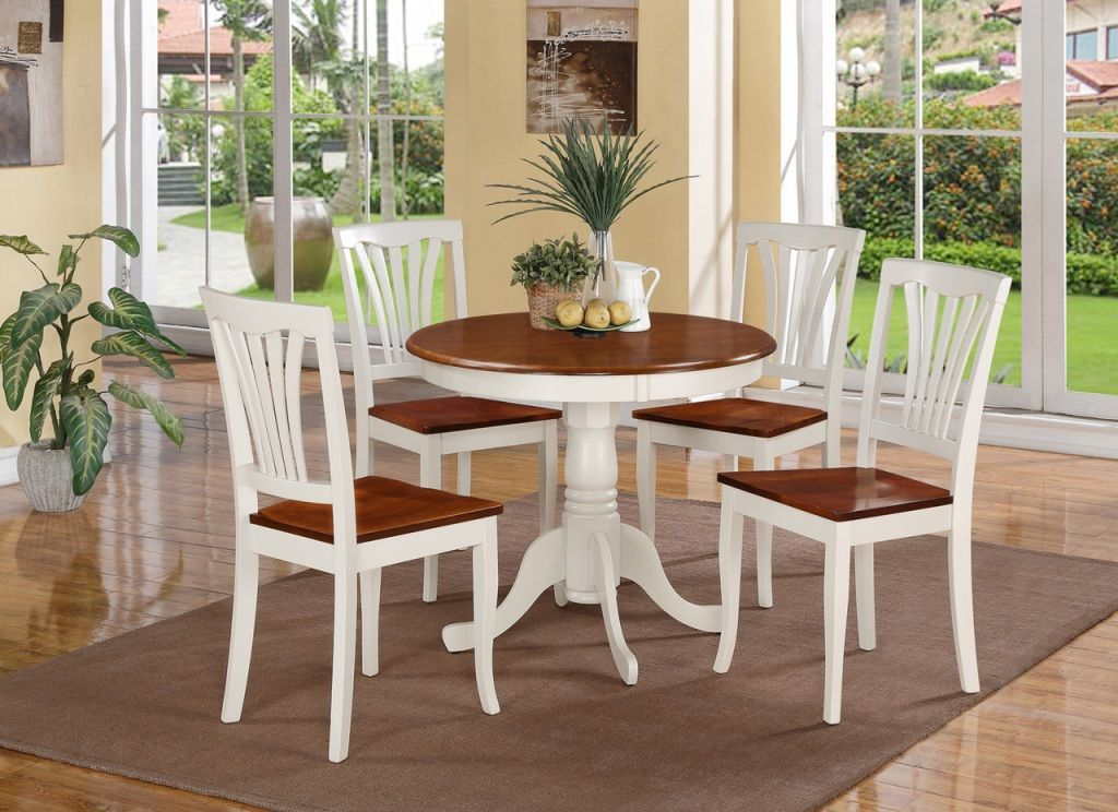 Home Interiors Unfinished Round Kitchen Table Expandable Also Round