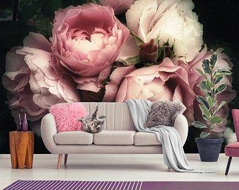 Pink Quartz Stone Wallpaper Self Adhesive Peel And Stick Etsy Of Wallpaper Casas
