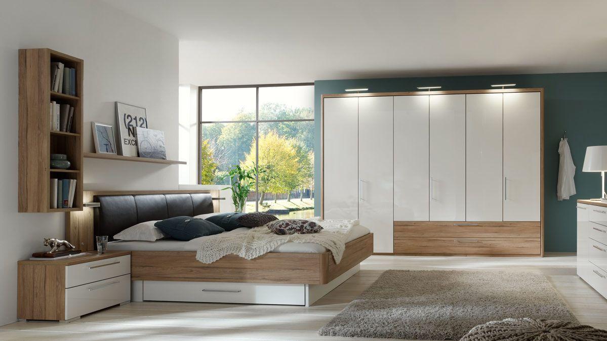 Good Modernes PARTNERRING COLLECTION Schlafzimmer zum wohlf hlen Mit t rigem Kleiderschrank mit alpinwei en Hochglanzfronten
