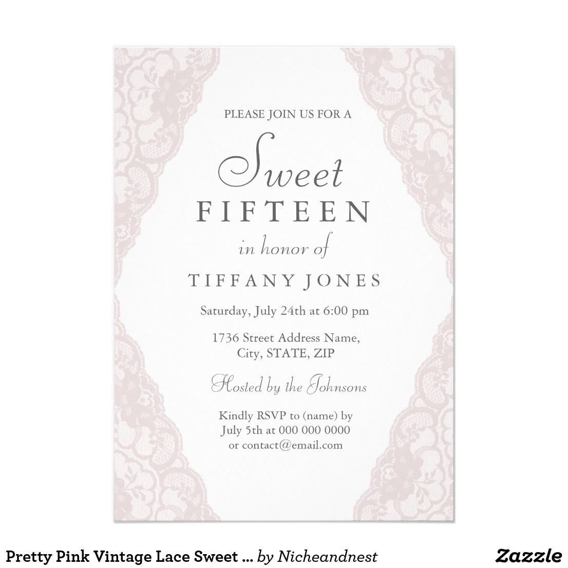 Sweet 15 Party Invitations Gallery invitation templates free download