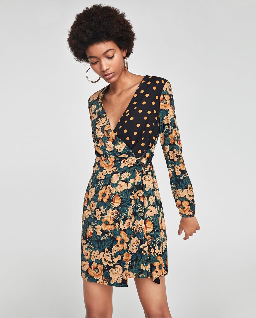 f219ab7602b Image 2 of FLORAL AND POLKA DOT PRINT DRESS from Zara
