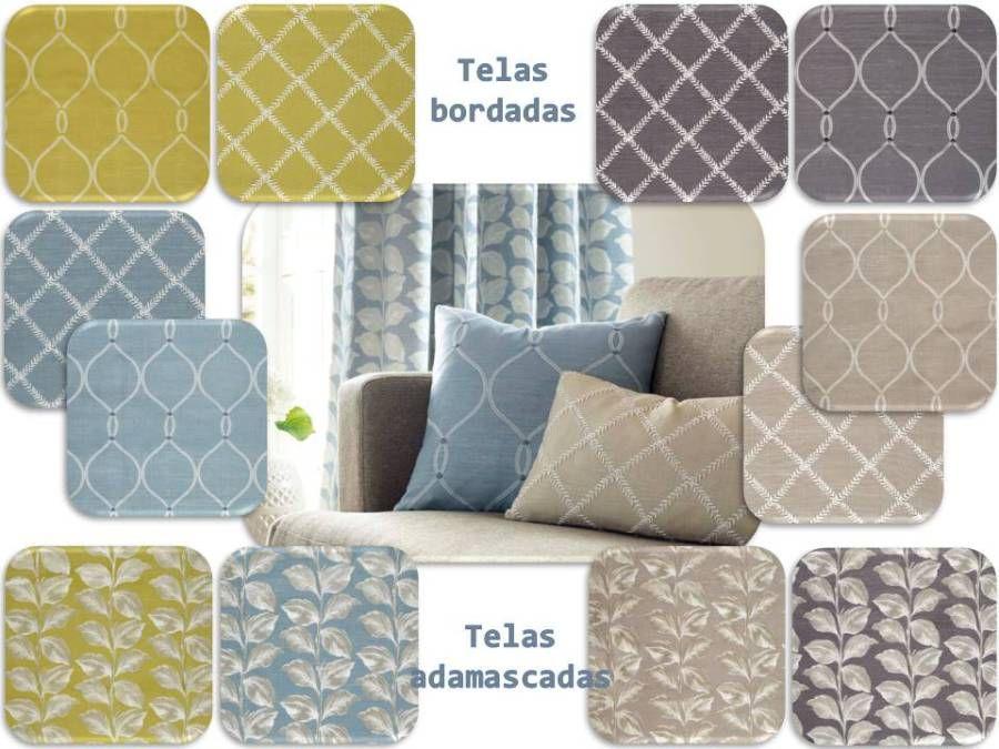 Telas para hacer cojines, dobles cortinas, colchas y tapizar