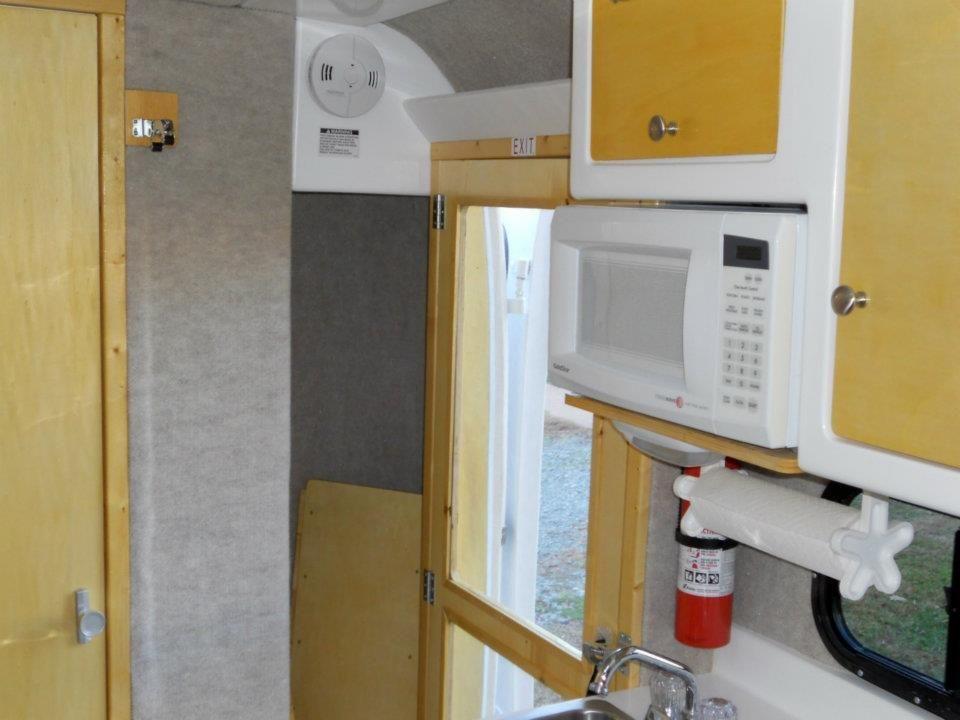 Interior-kitchen-small-fiberglass-travel-trailer   TRAILERS   Camping trailer for sale, Small