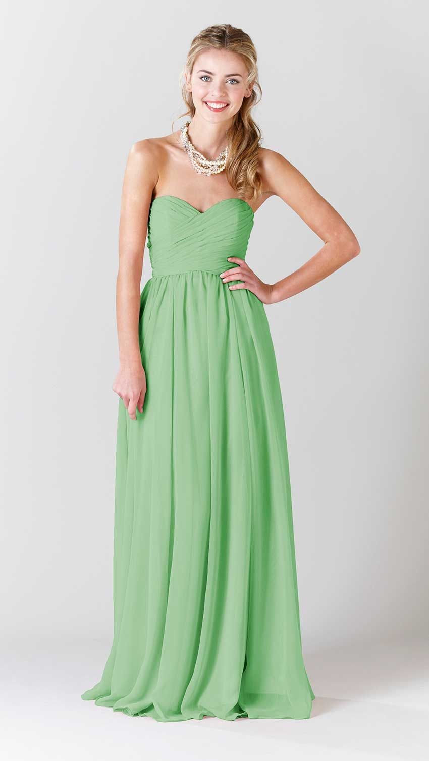 Kennedy blue olivia pinterest chiffon bridesmaid dresses green