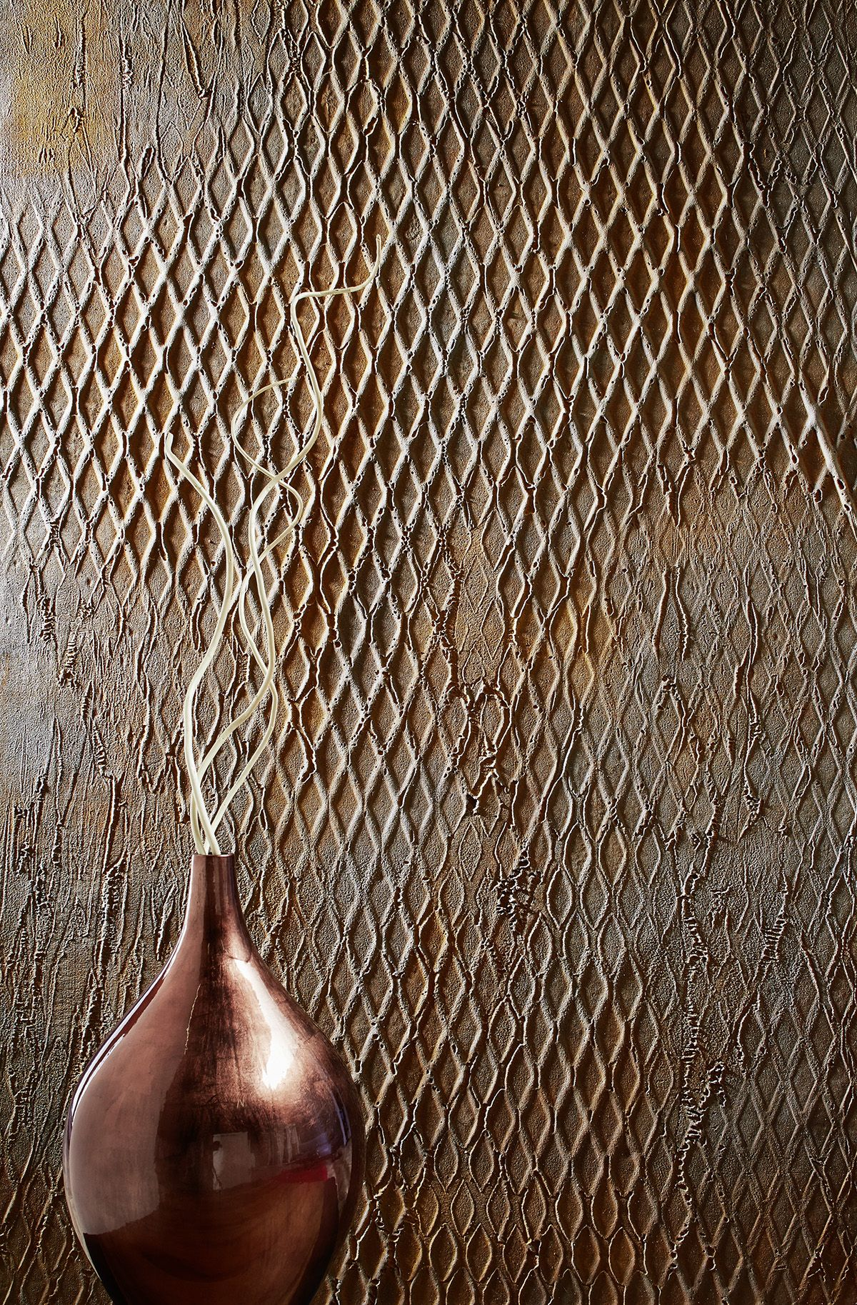 Joka Variano Wall Rusty Mesh Wallpapers Wandgestaltung