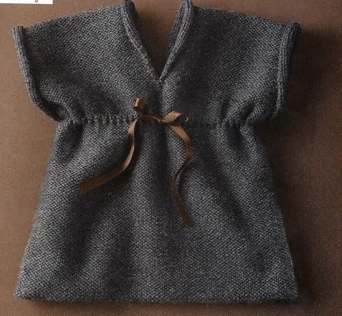 Easy baby dress knitting