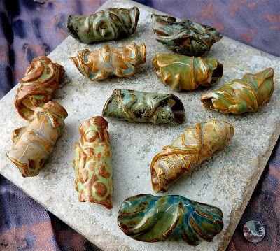 Fresh ceramic rollup beads...