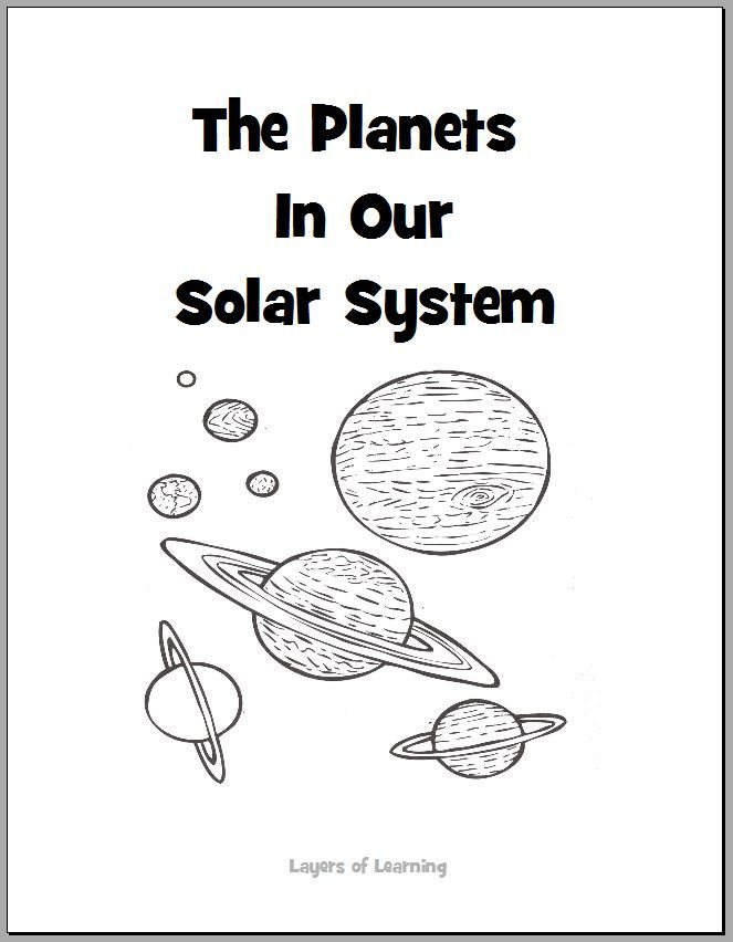 The Planets in Our Solar System Coloring Book free printable