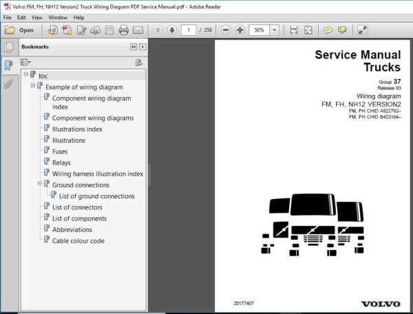 Volvo Fm Fh Nh12 Version2 Truck Wiring Diagram Pdf Service Manual Pdf Download In 2020 Volvo Manual Trucks