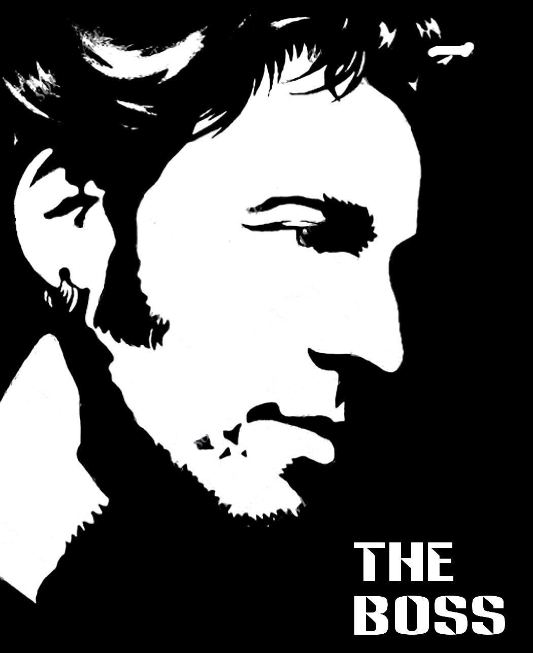 Bruce Springsteen Inspiration Vinyl Record Art Musician Art Bruce Springsteen The Boss