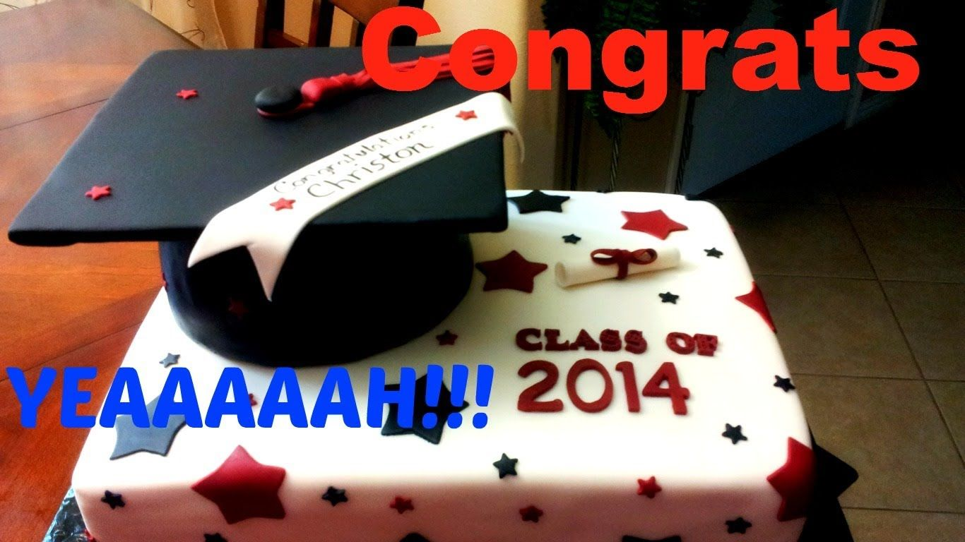 As you can see this is an easy Graduation Cap fondant cake ...