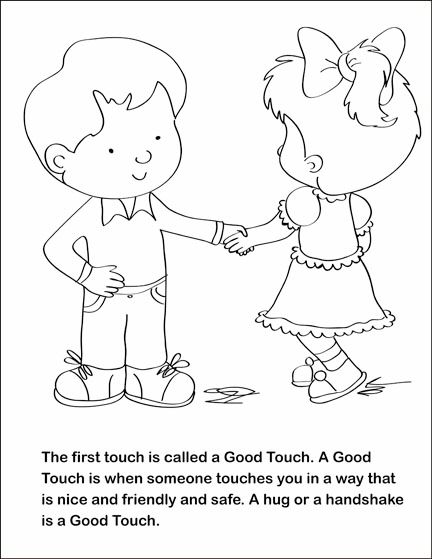 fsgc good touch bad touch coloring and activity book on behance - Good Touch Bad Touch Coloring Book