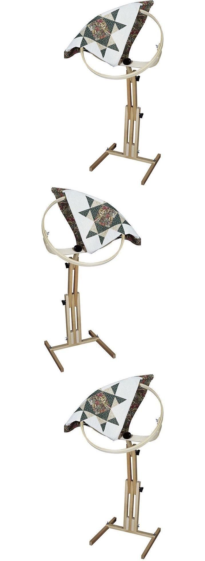 Quilting Tools and Equipment 19161: Quilting Frames Hand Quilt ... : quilt hoop floor stand - Adamdwight.com