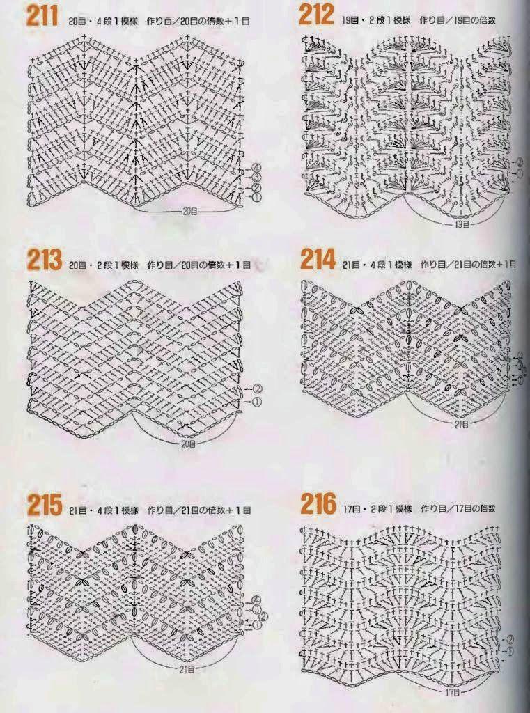 points+vagues+au+crochet.jpg (761×1024) | ponto de croche ...