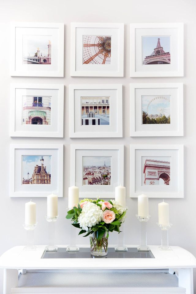 Symmetrical nine-grid gallery wall. | For the Home | Pinterest ...