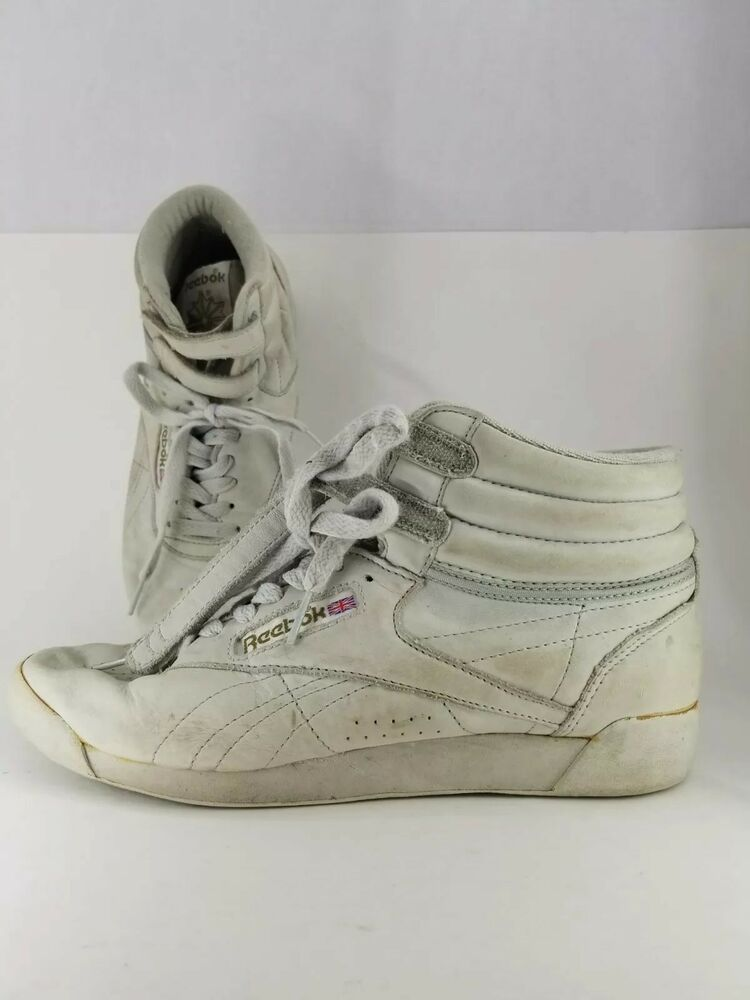 Reebok Classic Womens 9 Shoe High Top Freestyle Strap White