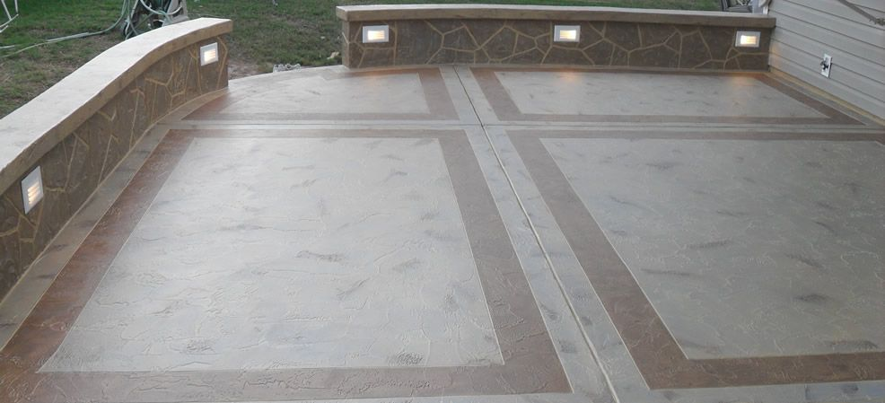 Lovely Poured Concrete Patio Ideas | Concrete Patios « Stone Patios Construction  And Design North Virginia