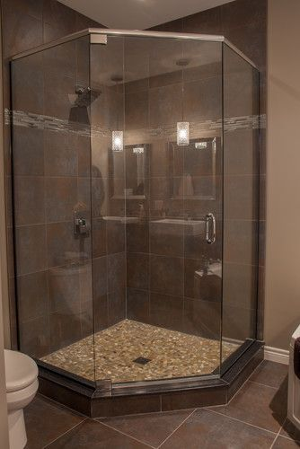 Master Bathrooms Corner Shower Design Pictures Remodel Decor And Ideas