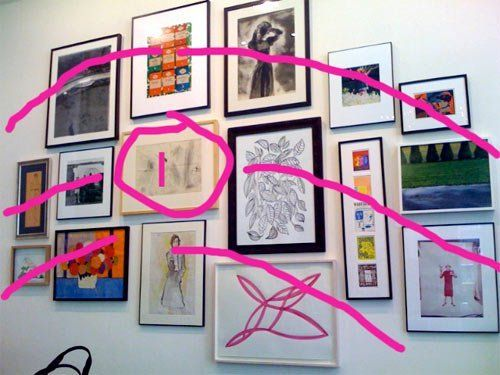 How To Hang Art In Groups Like Kate Spade A Great Explanation For Make Mismatched Work Together Group