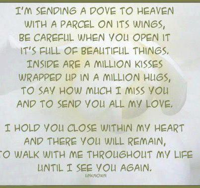 Missing Someone In Heaven Poem
