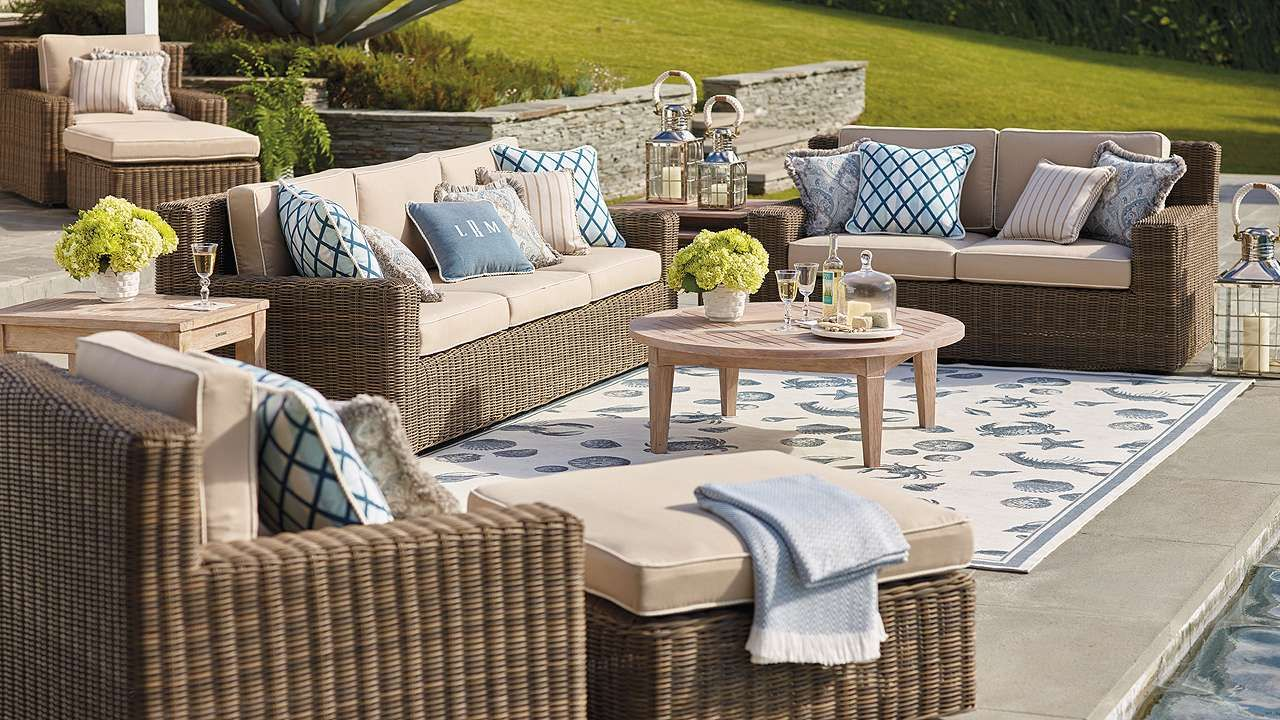 Hyde Park Seating in Ocean Grey Finish. Outdoor Wicker FurniturePatio ... - Hyde Park Seating In Ocean Grey Finish Parks, Dining Sets And We