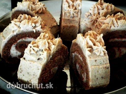 Gaštanová roláda -  roulade with chestnut filling