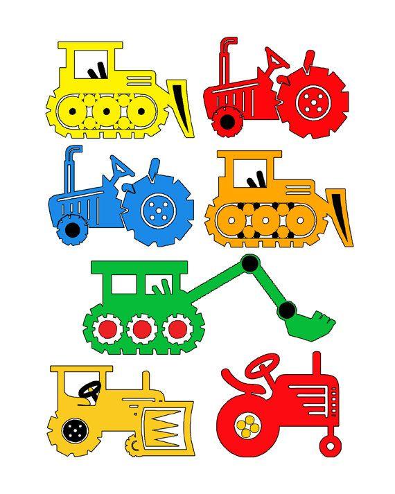 Bulldozer Tractor Boys Room Art Print  8 x 10 by DelightfulTrifles, $14.00