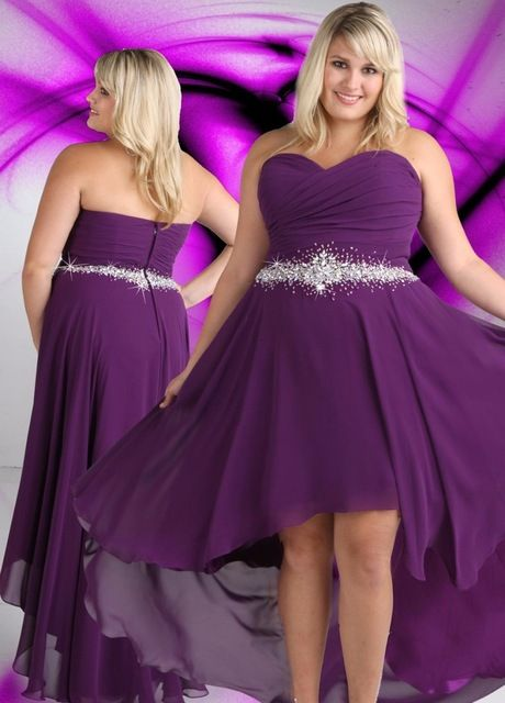 Plus Size Purple Hi Lo Strapless Sweetheart Off The Shoulder