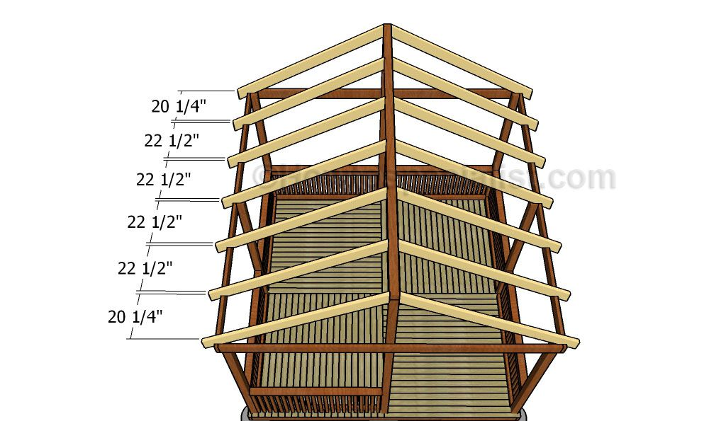 Square Gazebo Roof Plans Howtospecialist How To Build Step By Step Diy Plans Gazebo Roof Gazebo Plans Wooden Gazebo Plans