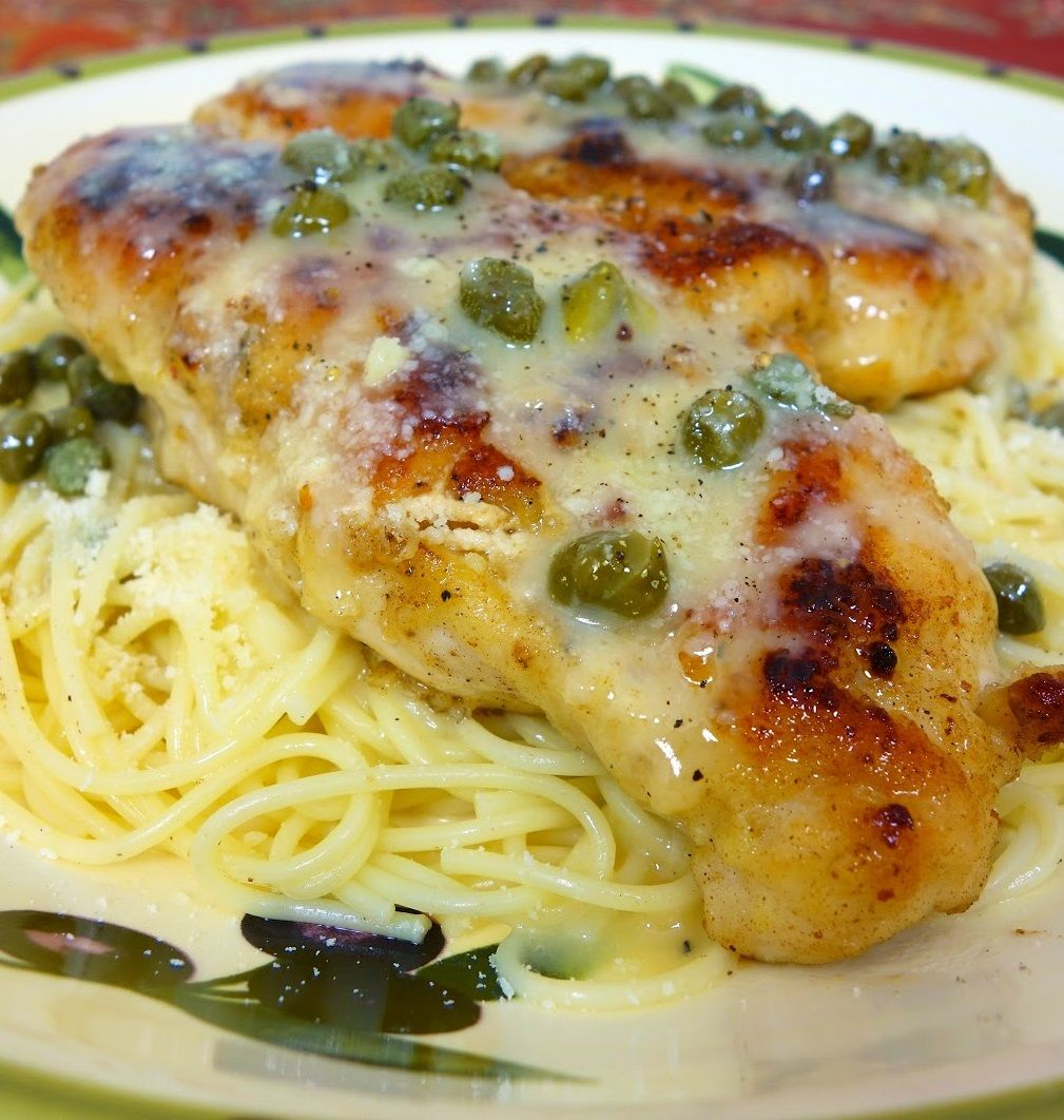 Oven Baked Lemon Chicken With Capers