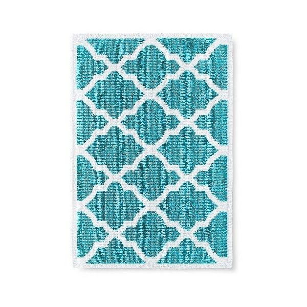 Threshold Woven Bath Mat Liked On Polyvore Featuring Home - Aqua bathroom rugs