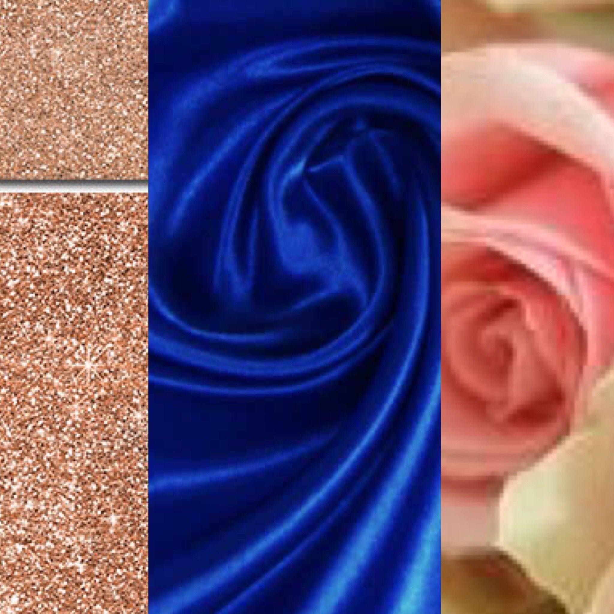 Color Scheme Cobalt Blue Rose Gold And Blush Wedding Color Schemes Blue Rose Gold Wedding Decor Gold Wedding Colors