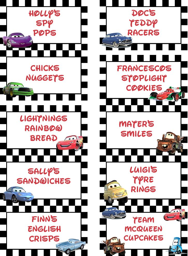 free printable disney cars lightning mcqueen cupcake toppers, Birthday invitations