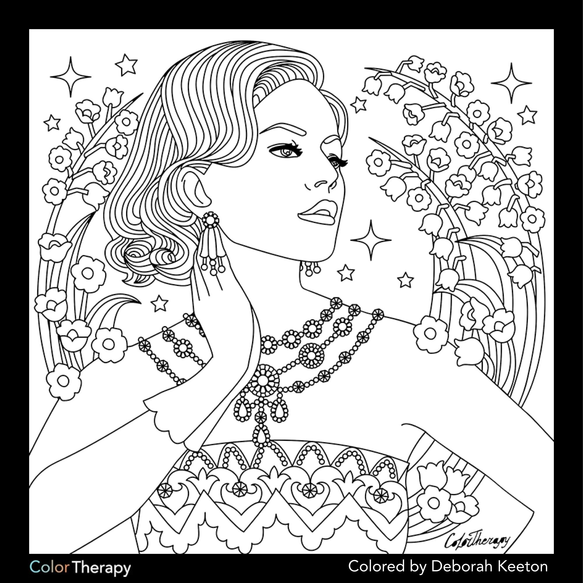 Glamorous Fashion Coloring Pages for Adults