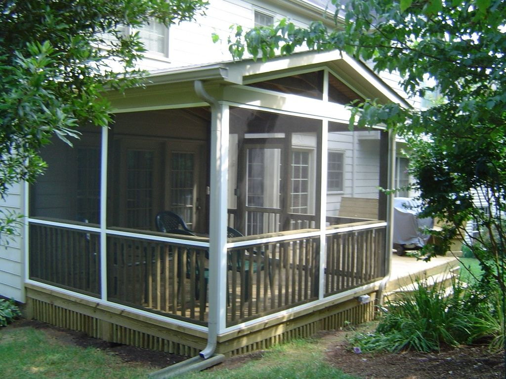 Home depot screened in porch kits screen porch 3 for Enclosed porch plans free