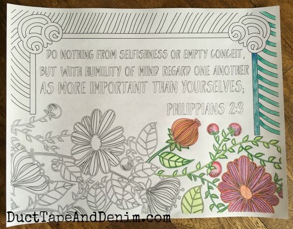 Free Scripture Coloring Pages Philippians 2 3 Coloring Pages