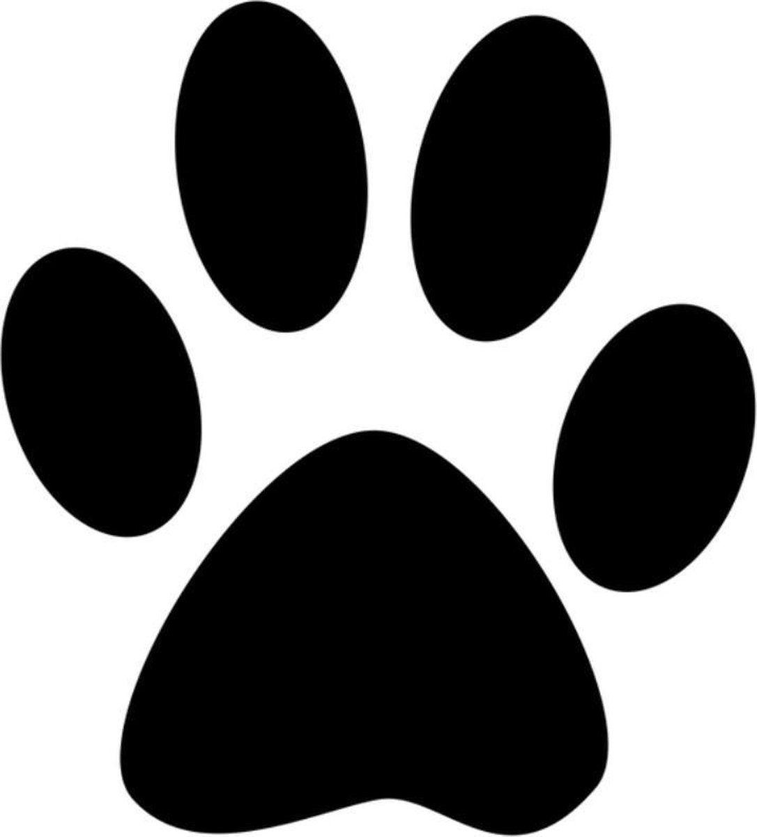 Sticker Hondenpoot 12 X 12 Cm Zwart In 2021 Hondenpoten Auto Stickers Zwart