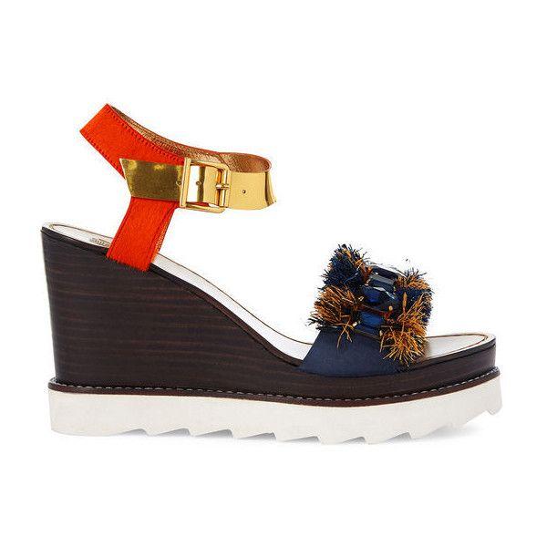 Sanchita Multi Platform Wedge Coba Sandals