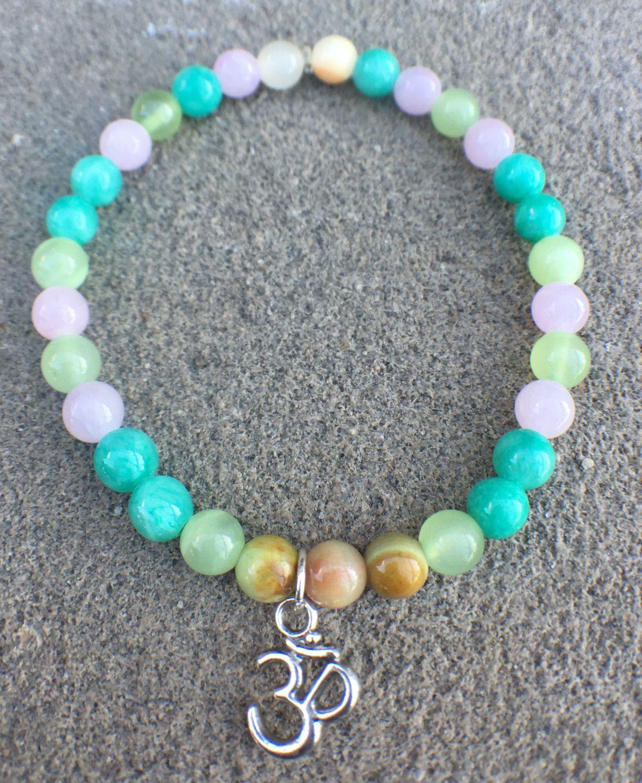 Multi-Color 6mm Casual Spring Bracelet by MyOhmStyle on Etsy