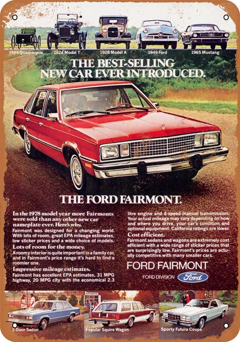 1970's Ford Fairmont Print advertisement Advertisements Art ...