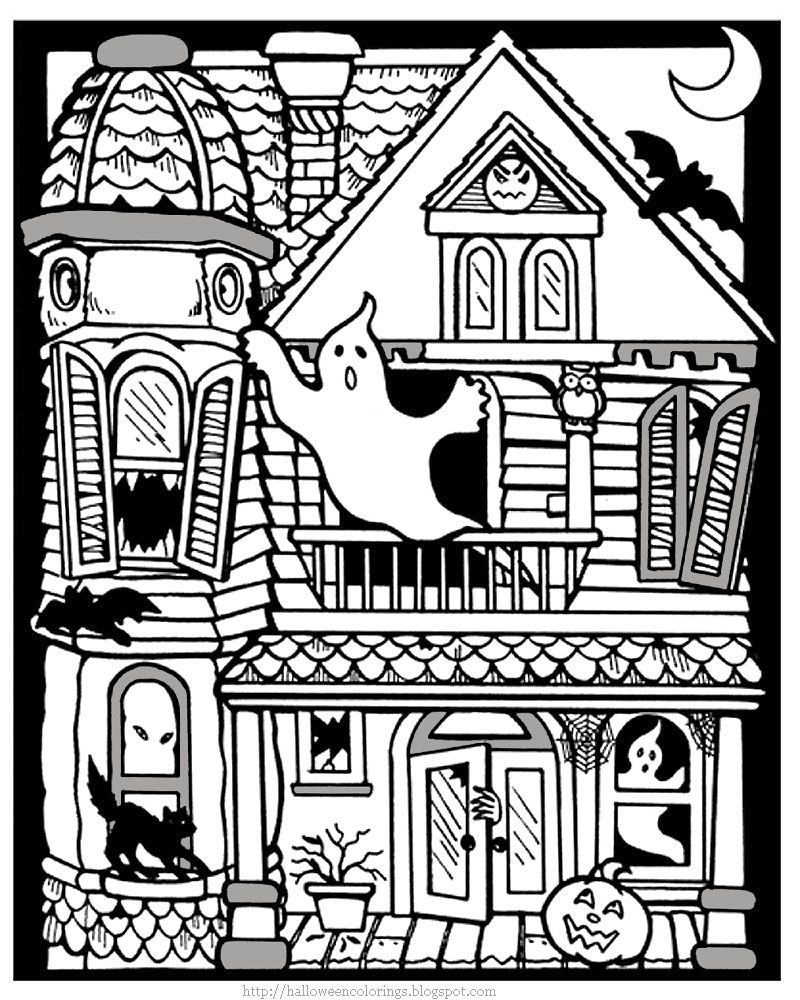 25 Awesome Image Of Haunted House Coloring Pages Entitlementtrap Com Halloween Coloring Sheets Halloween Coloring Pictures Halloween Coloring