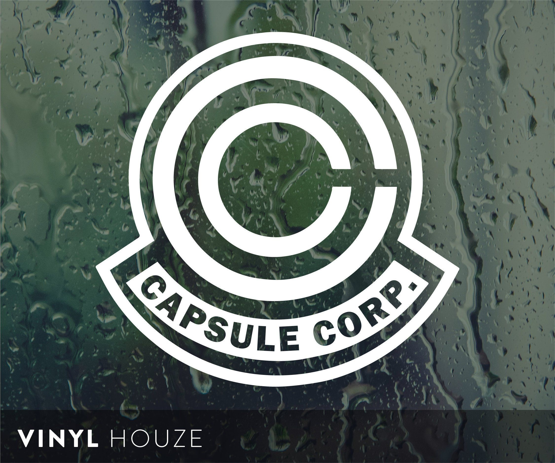 Capsule Corp Vinyl Decal Die cut Sticker Laptop Car Window Dragon Ball Z Goku