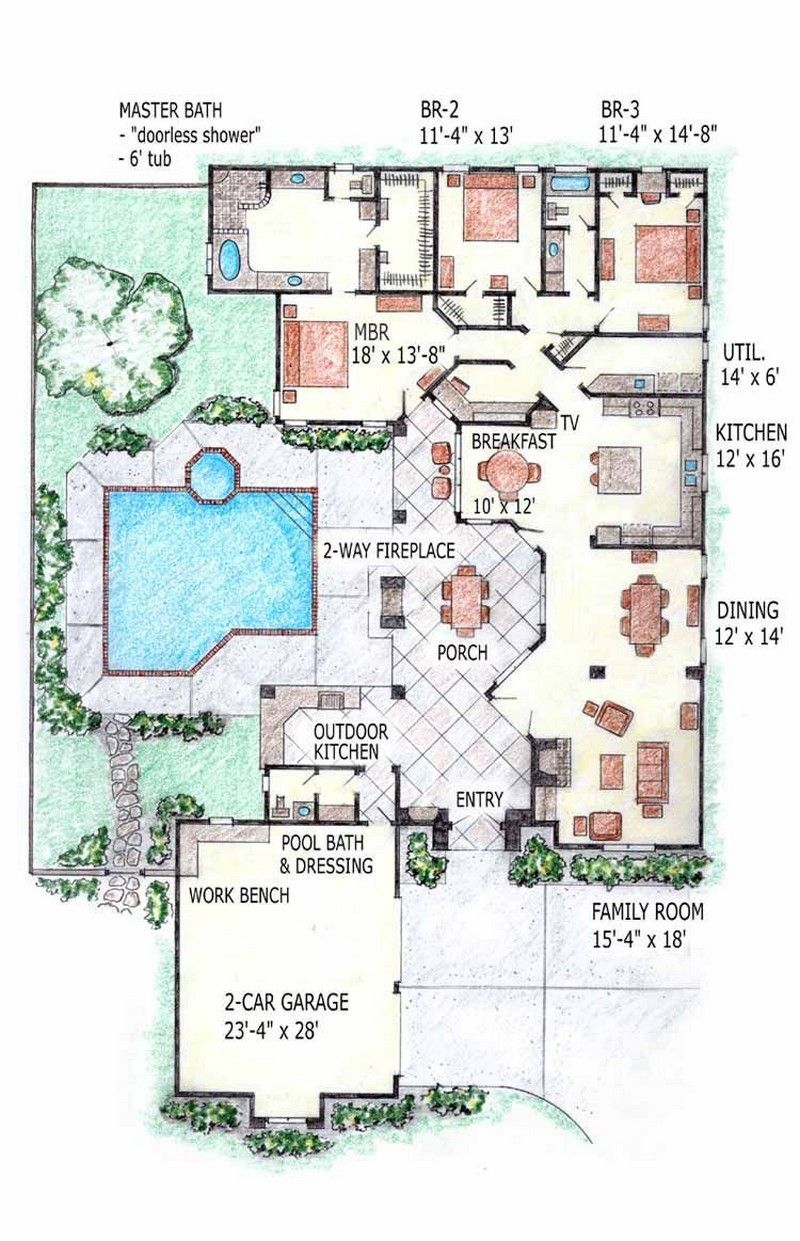Home Plans With Indoor Pool Home Decorations Pinterest House